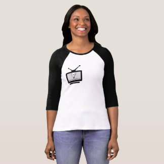 Camiseta feminina Reglan 3/4 Arch Search Tv