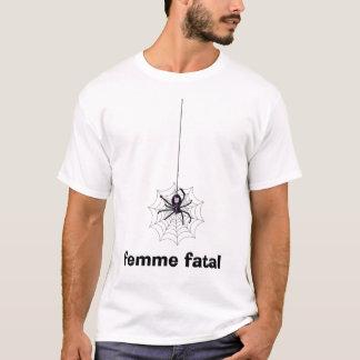 Camiseta femme da Web de aranha fatal