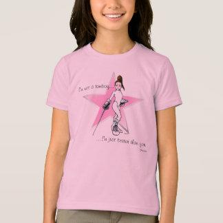 Camiseta FencerGrrl - eu não sou um tomboy…