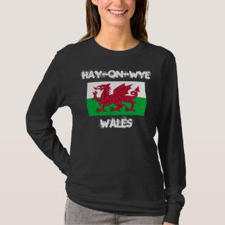 Camiseta Feno-em-Wye, Wales com bandeira de Galês