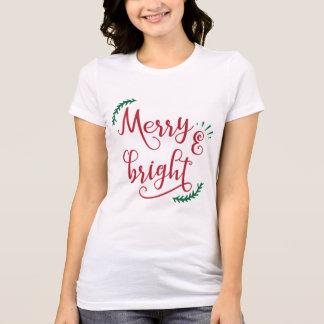 Camiseta feriado alegre e brilhante
