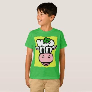 Camiseta FERIADO da vaca do creme do Dia-Gelo de BOY/GIRL