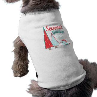 Camiseta Feriado das árvores & do pássaro de Natal dos