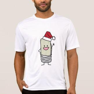 Camiseta Feriado de ondulação do chapéu do papai noel do