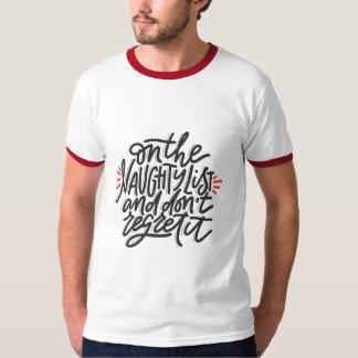Camiseta Feriado do Natal dos homens IMPERTINENTES da LISTA