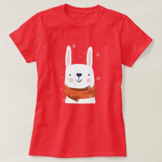 Camiseta Feriados do coelho da neve
