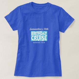Camiseta Férias do grupo do cruzeiro do aniversário