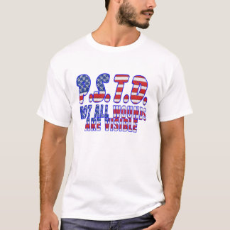Camiseta Feridas de PTSD não todas as são visíveis