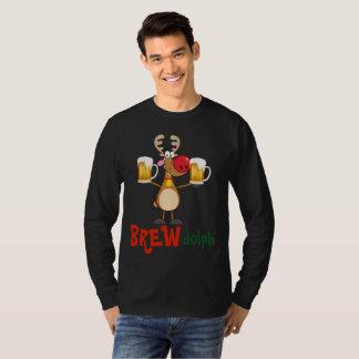 Camiseta Fermentação bêbeda Dolph da cerveja engraçada da