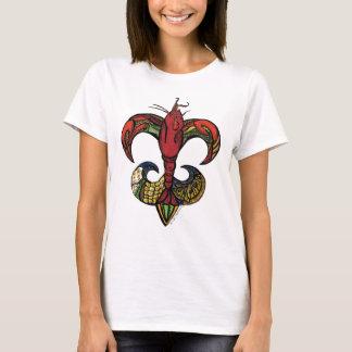 Camiseta Fervura com uma flor de lis dos lagostins