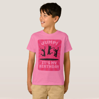 Camiseta Festa de aniversário da casa do salto do trampolim