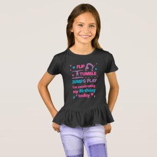 Camiseta Festa de aniversário da ginástica da menina