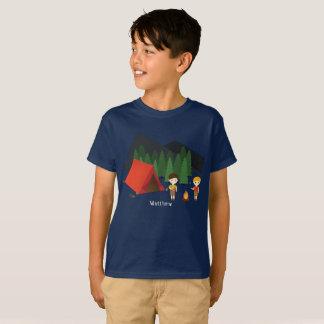 Camiseta Festa de aniversário de acampamento