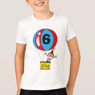 Camiseta Festa de aniversário do balão de ar quente 6a