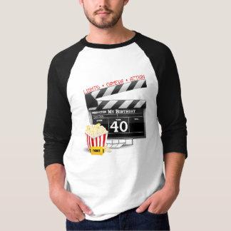 Camiseta Festa de aniversário do filme do aniversário de 40
