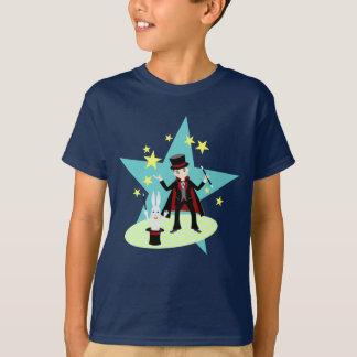 Camiseta Festa de aniversário do miúdo do mágico