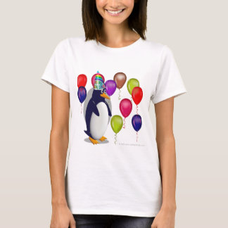 Camiseta Festa de aniversário do pinguim