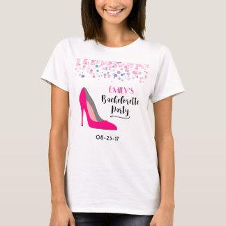 Camiseta Festa de solteira do salto alto do estilete do