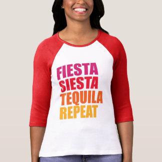 Camiseta Festa, Siesta, férias de Bachelorette do Tequila