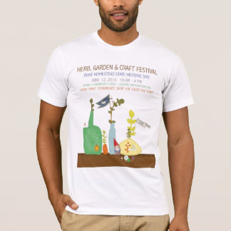 Camiseta Festival da erva 2010, do jardim & do artesanato