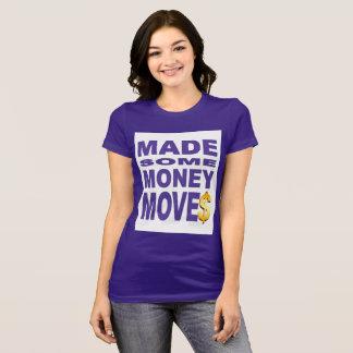 Camiseta Fez alguns movimentos do dinheiro