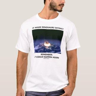 Camiseta Fez dinossauros extintos (a terra deixando de