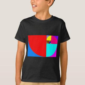 Camiseta fibonacci espiral