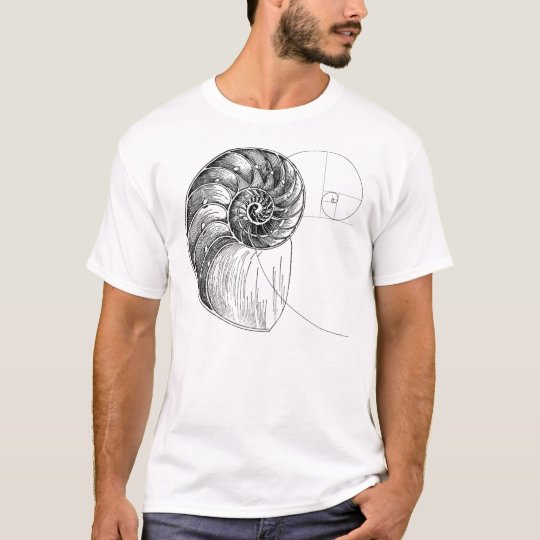 Camiseta fibonacci spiral