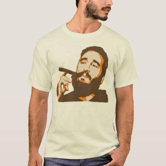 Camiseta Fidel Castro com o t-shirt do retrato do charuto