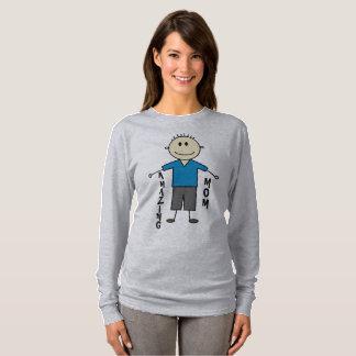 Camiseta Figura bonito design da vara do menino do smiley