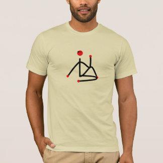 Camiseta Figura da vara do meio senhor do pose. da ioga dos