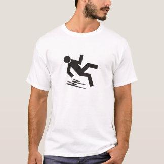 Camiseta Figura de deslizamento t-shirt