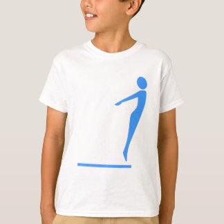 Camiseta Figura do mergulho - azul bebé