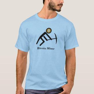 Camiseta Figura gráfica da vara do mineiro de Bitcoin
