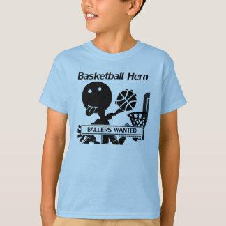 Camiseta Figura herói da vara do basquetebol
