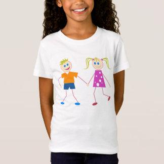 Camiseta Figura menino & menina da vara
