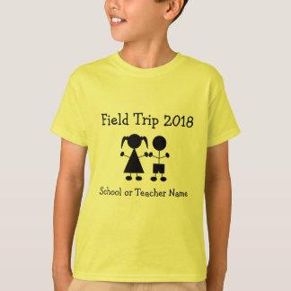 Camiseta Figura t-shirt da menina e do menino da visita de