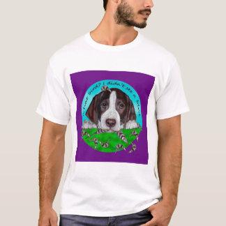 Camiseta Filhote de cachorro adorável do ponteiro de