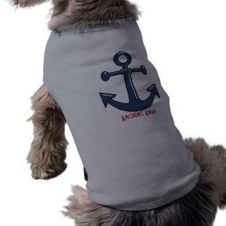 Camiseta Filhote de cachorro ausente das âncoras