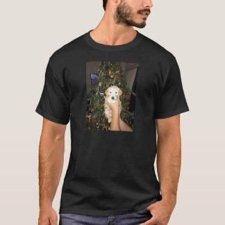 Camiseta Filhote de cachorro de GoldenDoodle com árvore de