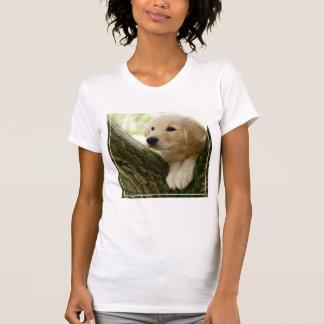 Camiseta Filhote de cachorro de Labrador que senta-se em um