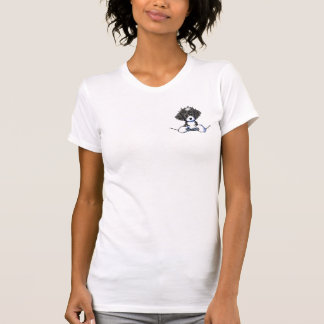 Camiseta Filhote de cachorro do bolso de B/W Cockapoo