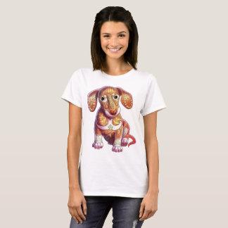 Camiseta Filhote de cachorro do Dachshund