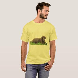 Camiseta Filhote de cachorro do laboratório do chocolate