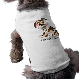 Camiseta filhote de cachorro, eu sou estragado!