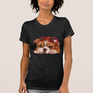 Camiseta Filhote de cachorro inglês do buldogue