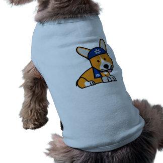 Camiseta Filhote de cachorro judaico feliz do cão dos