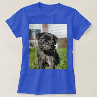 Camiseta Filhote de cachorro preto do pug