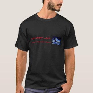 """Camiseta filhote de cachorro vermelho """"a grande onda """""""