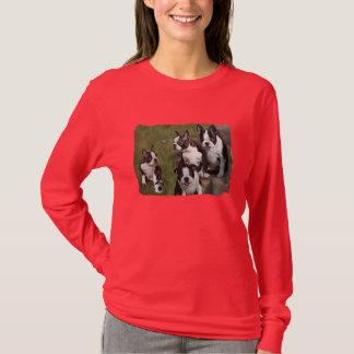Camiseta Filhotes de cachorro de Boston Terrier